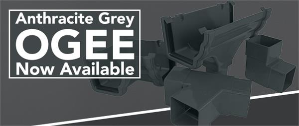 Anthracite Grey Ogee Gutter