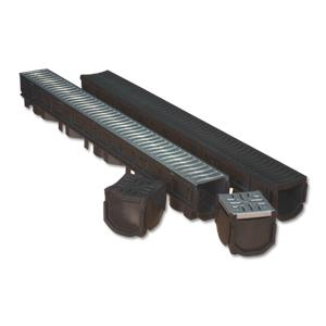 Galvanised Channel Drain Garage Pack