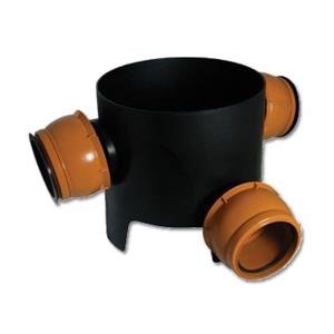 Underground 270mm 90 Inlet Chamber Base (Allows 0-20 Movement)