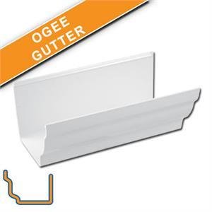 Floplast White Ogee Gutter Fasciaexpert Co Uk