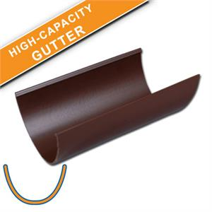 Floplast Brown High Capacity Gutter Fasciaexpert Co Uk