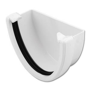White High Capacity Gutter Stop Ends Fasciaexpert Co Uk