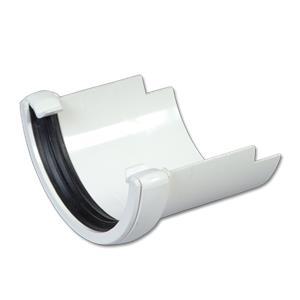 Floplast White Half Round To Cast Iron Gutter Adaptor
