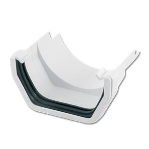 Floplast White Square To Cast Iron Half Round Gutter Adaptor
