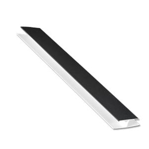 Black Hollow Soffit Trim (H-Trim)