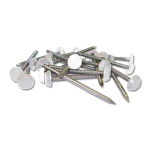 White Plastic Headed Pins & Nails