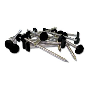 Black Plastic Headed Pins & Nails